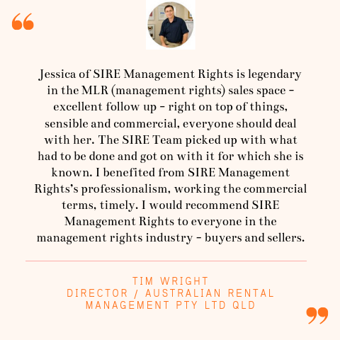 Time Wright Seller Testimonial | SIRE Management Rights | management rights for sale, buy management rights,management rights brisbane,management rights qld,management rights for sale,caravan parks for sale,resort for sale,resorts for sale,management rights gold coast, 物业管理权方程式, 卖物业管理权, 买物业管理权,物业管理权, sire management rights, hotel for sale, motel for sale, buy management rights, sell management rights, APMA, ARAMA, ABMA, Management and Letting Rights, MLR brokers, MLR broker, accommodation business transactions, management letting rights, management rights training, operate management rights, synergy international management rights